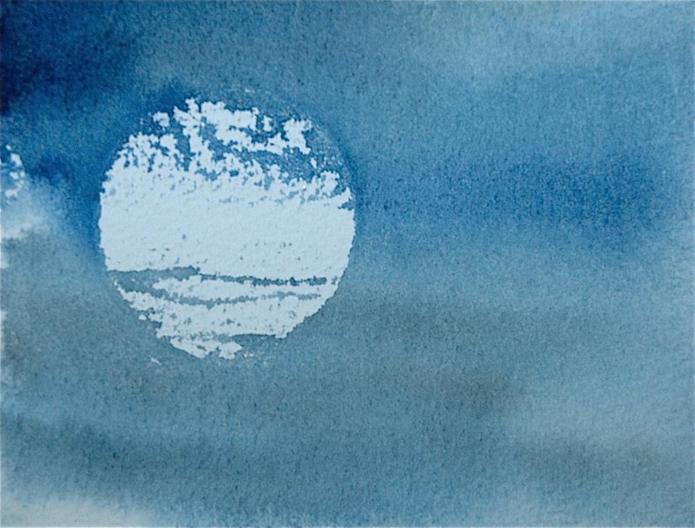 """Blue Moon"" original fine art by Ulrike Schmidt"