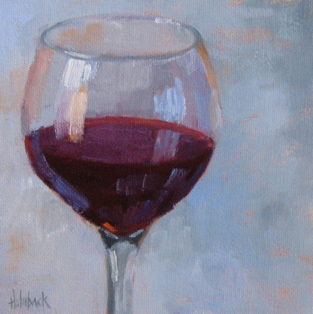 """But Man Made Wine"" original fine art by Pam Holnback"