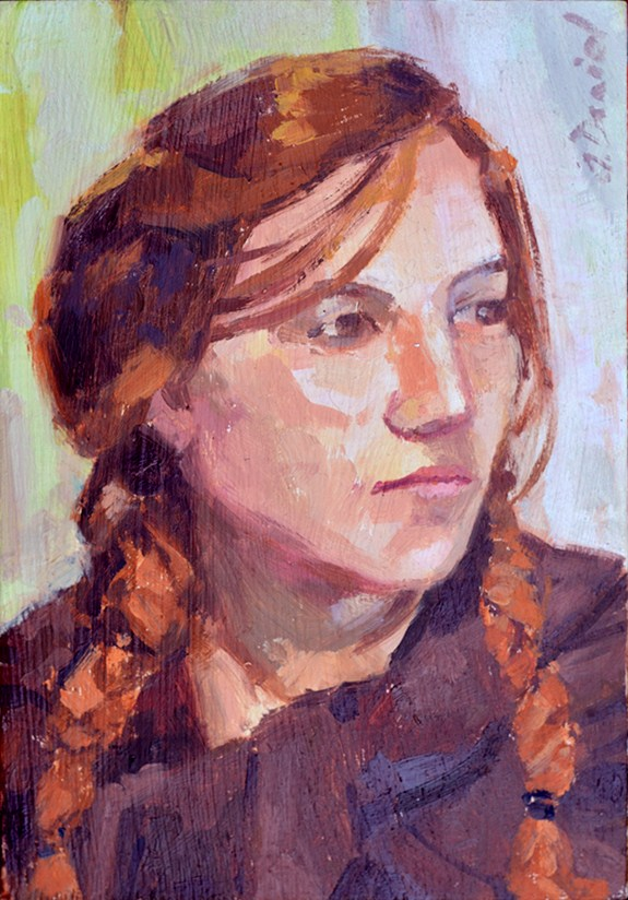 """Portrait of a Woman"" original fine art by Andrew Daniel"