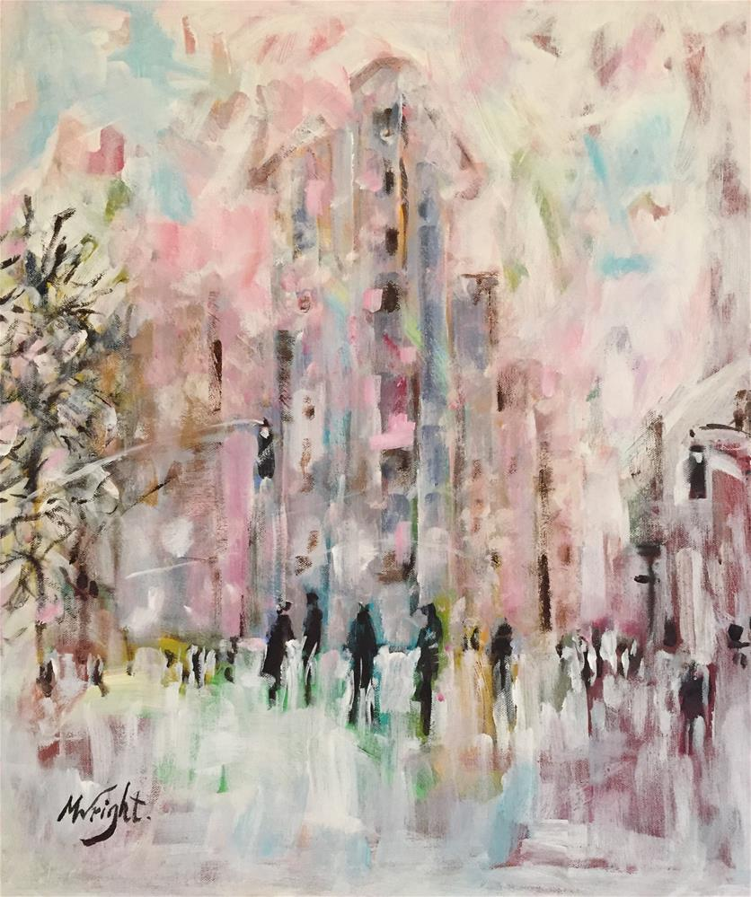 """Snow Day In The City"" original fine art by Molly Wright"