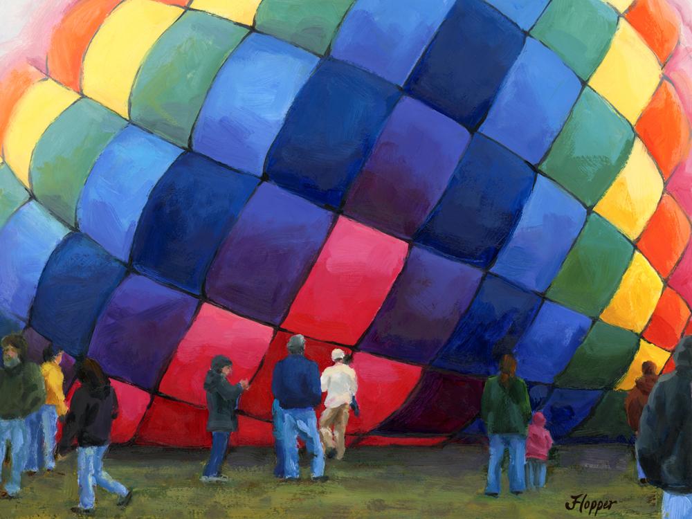 """Big & Beautiful"" original fine art by Joanne Hopper"