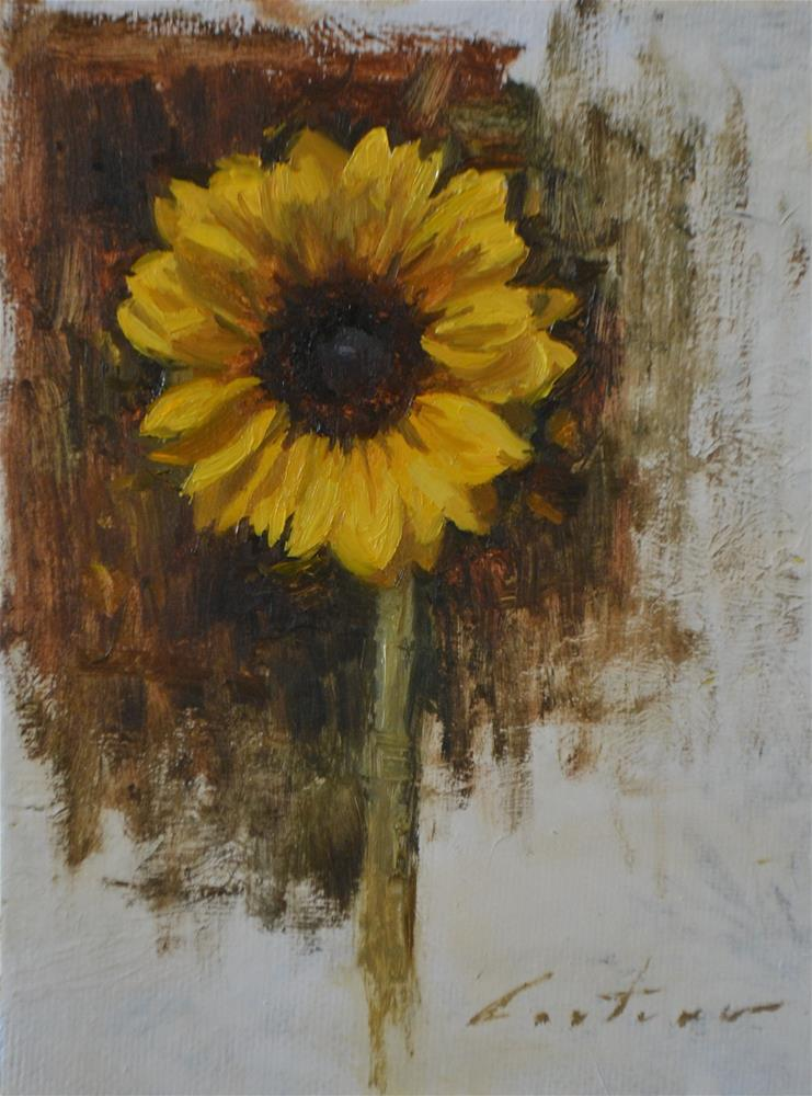 """Sunflower Study"" original fine art by Phil Couture"