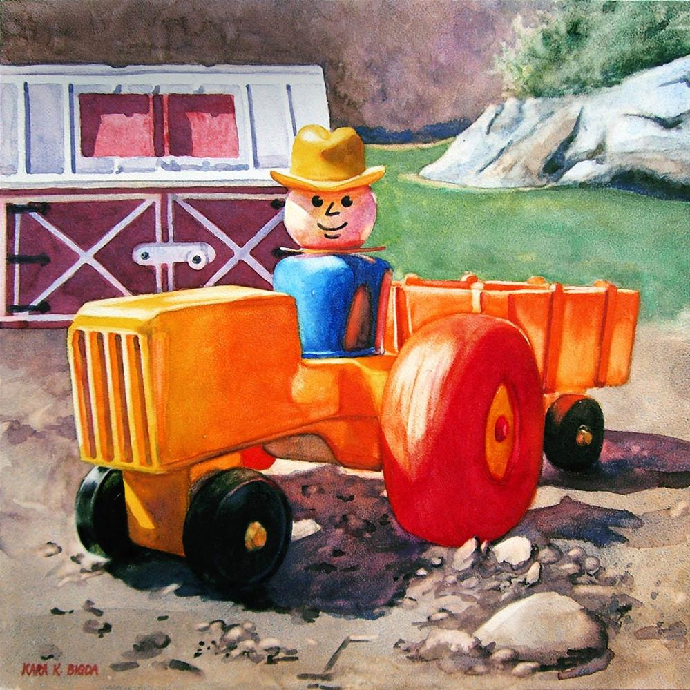 """The Gentleman Farmer"" original fine art by Kara K. Bigda"