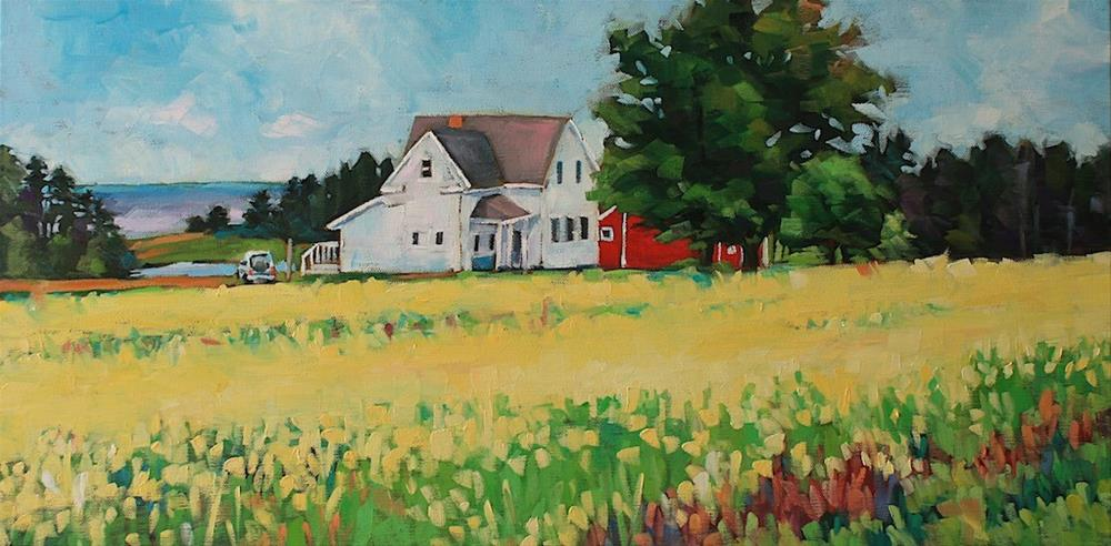 """Prince Edward Island Mustard Field"" original fine art by Mary Anne Cary"