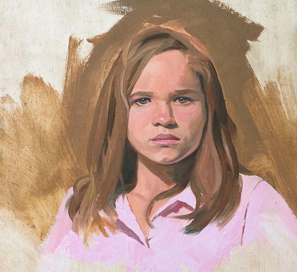 """""""Girl in Pink"""" original fine art by Don Stewart"""