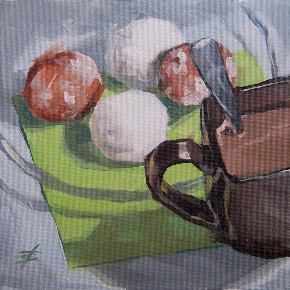 """Coffee and Donut Holes"" original fine art by David Bates"