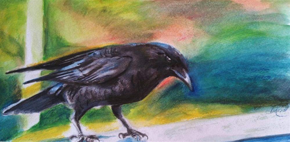 """Mr.Crow"" original fine art by Dana C"