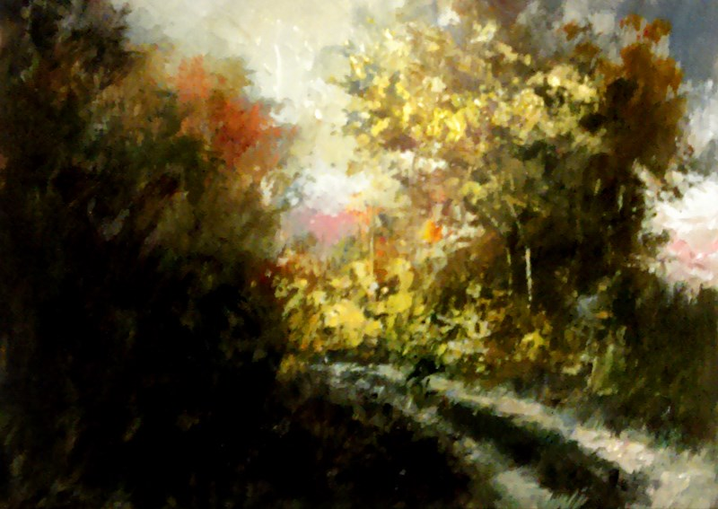 """Path to the Light"" original fine art by Bob Kimball"