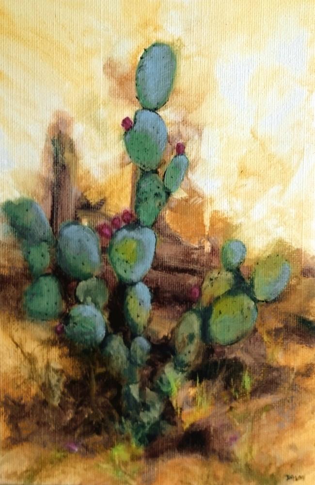 """Cactus"" original fine art by Dalan Wells"
