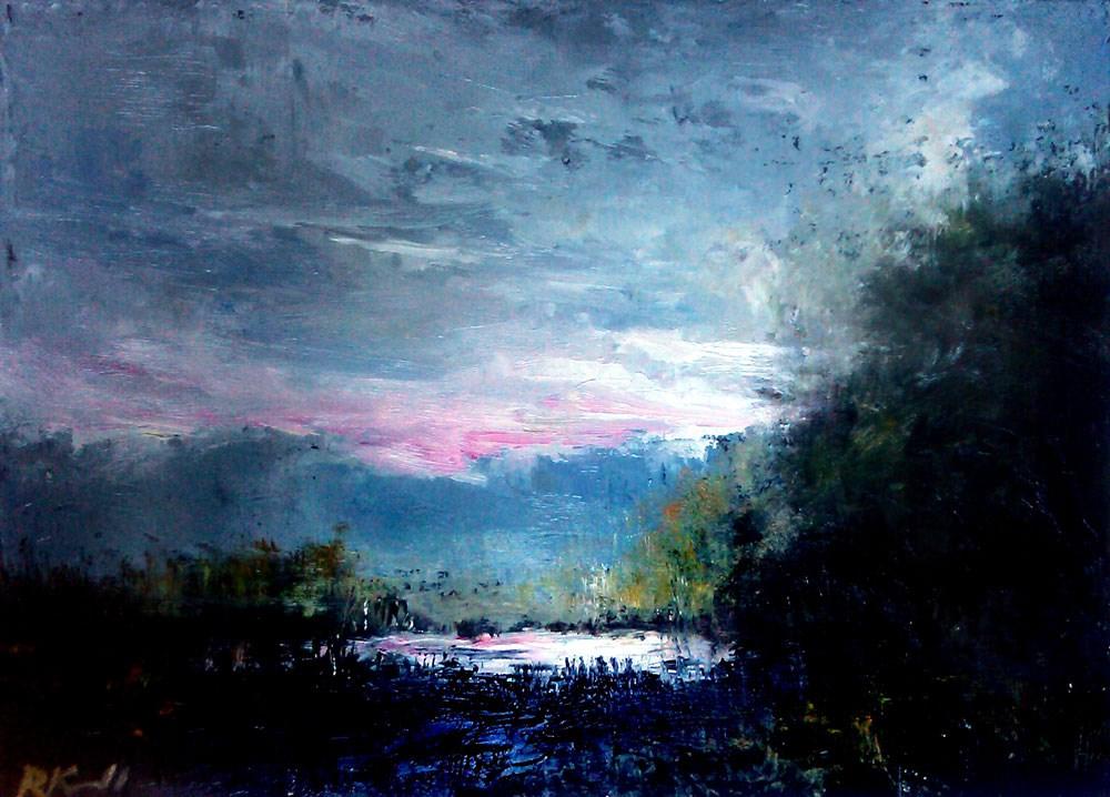 """Sunlit Pond"" original fine art by Bob Kimball"