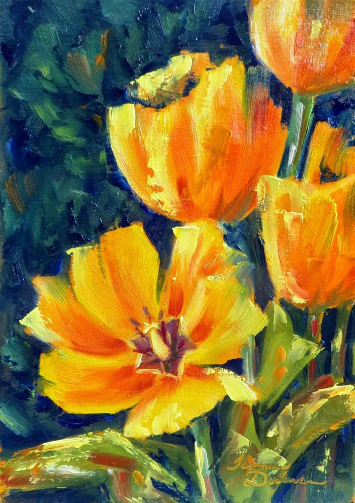 """Tulip Drama"" original fine art by Tammie Dickerson"