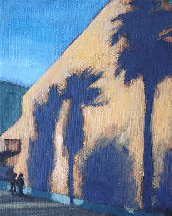 """SJ Palms"" original fine art by J. Farnsworth"