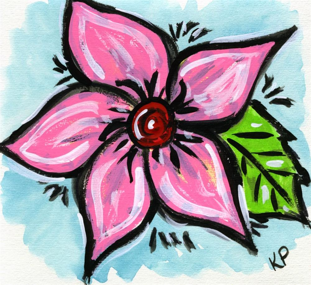 """Pink"" original fine art by Kali Parsons"
