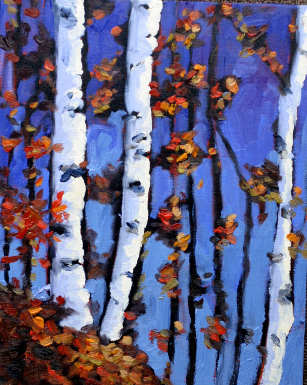"""Birches"" original fine art by Kristen Dukat"