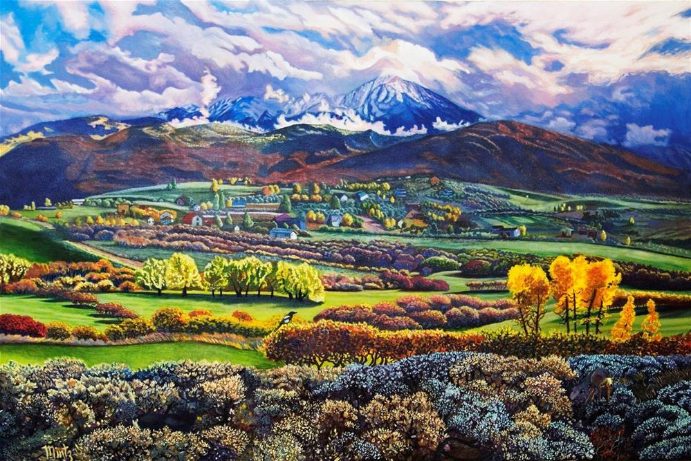 """Mount Sopris"" original fine art by Alan Mintz"