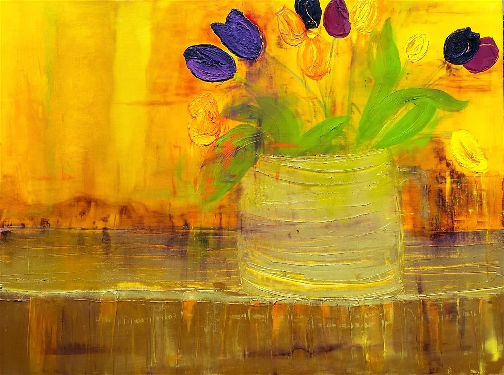 """Tulips Bloom"" original fine art by Christy Tremblay"
