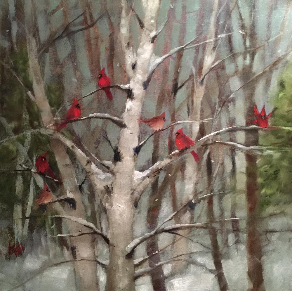 """Winter Gathering"" original fine art by Krista Eaton"