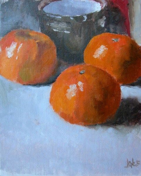 """Tangerines"" original fine art by Richard Jones"