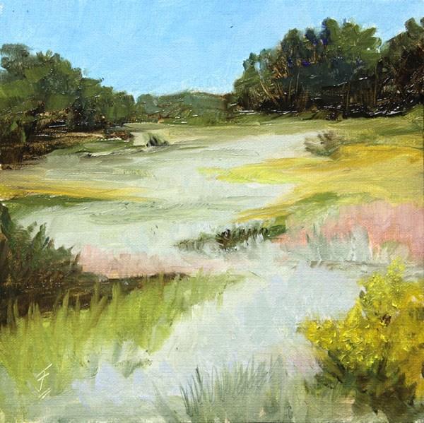 """Mountain Grass"" original fine art by Jane Frederick"