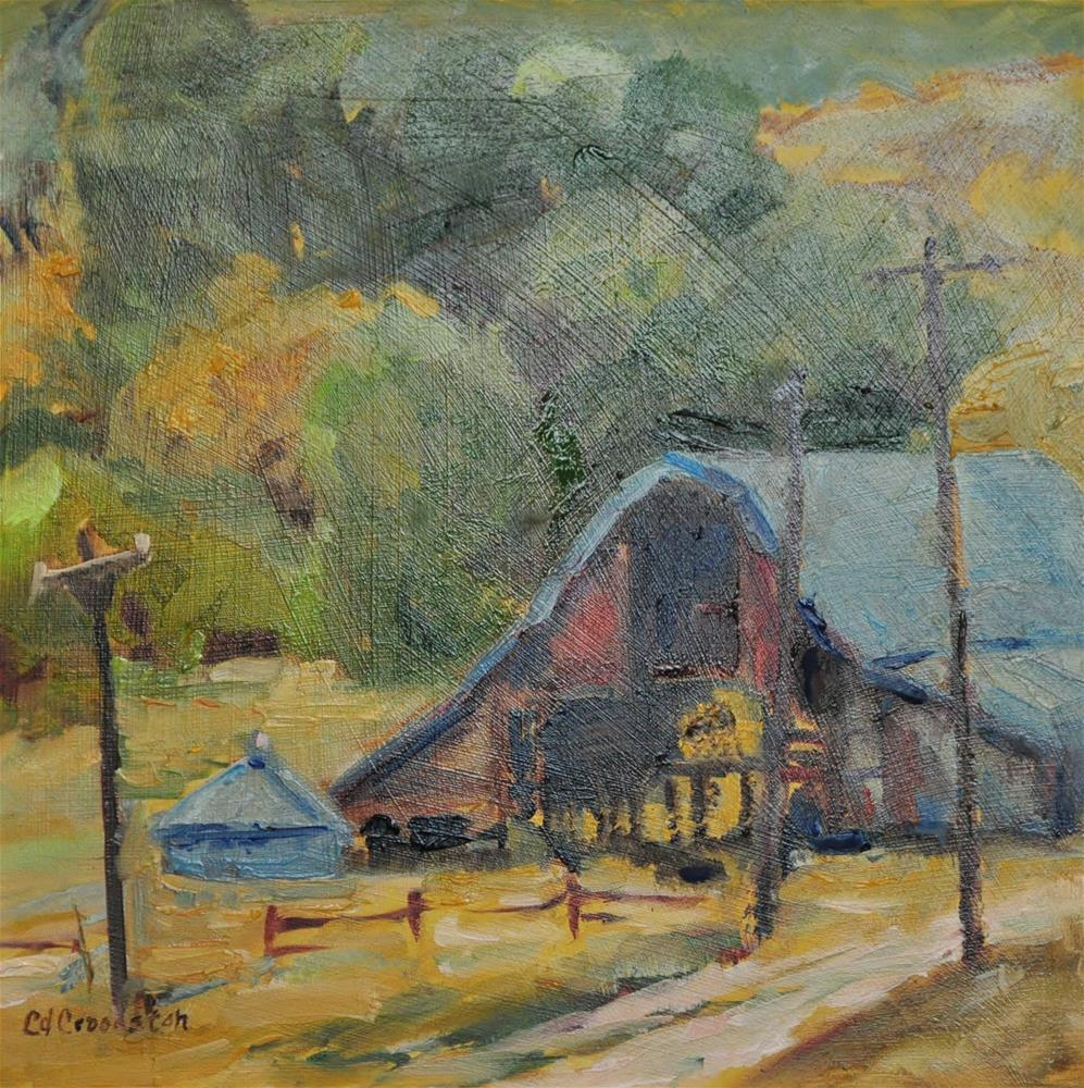 """Barn time"" original fine art by Catherine Crookston"