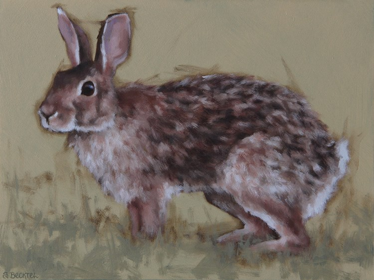 """Mama Cottontail"" original fine art by Sarah Becktel"