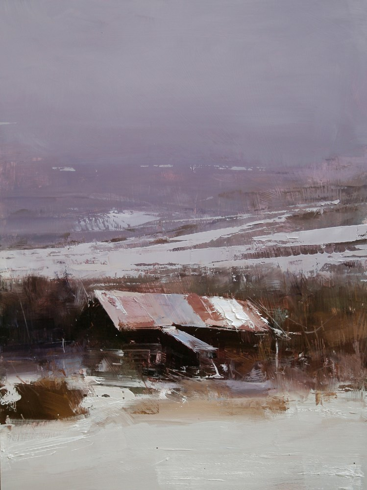 """Late Autumn"" original fine art by Tibor Nagy"