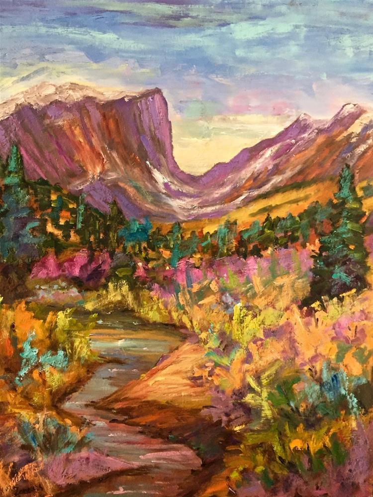"""Fall at Hallett Peak"" original fine art by Liz Zornes"