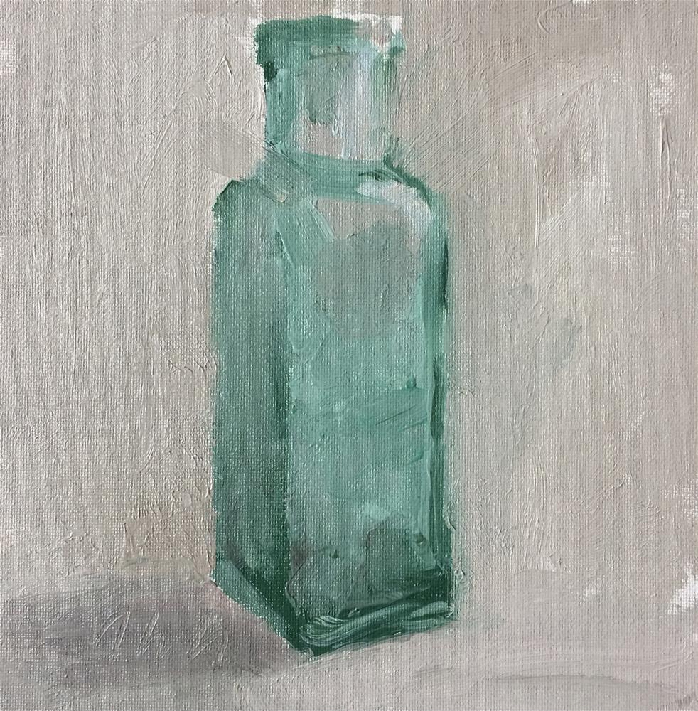 """bottle"" original fine art by Yuehua He"