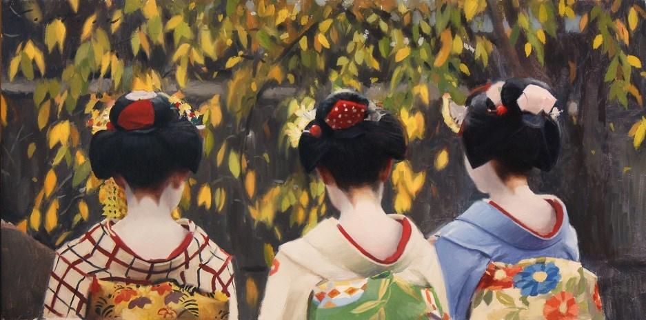 """Gion Shirakawa"" original fine art by Phil Couture"