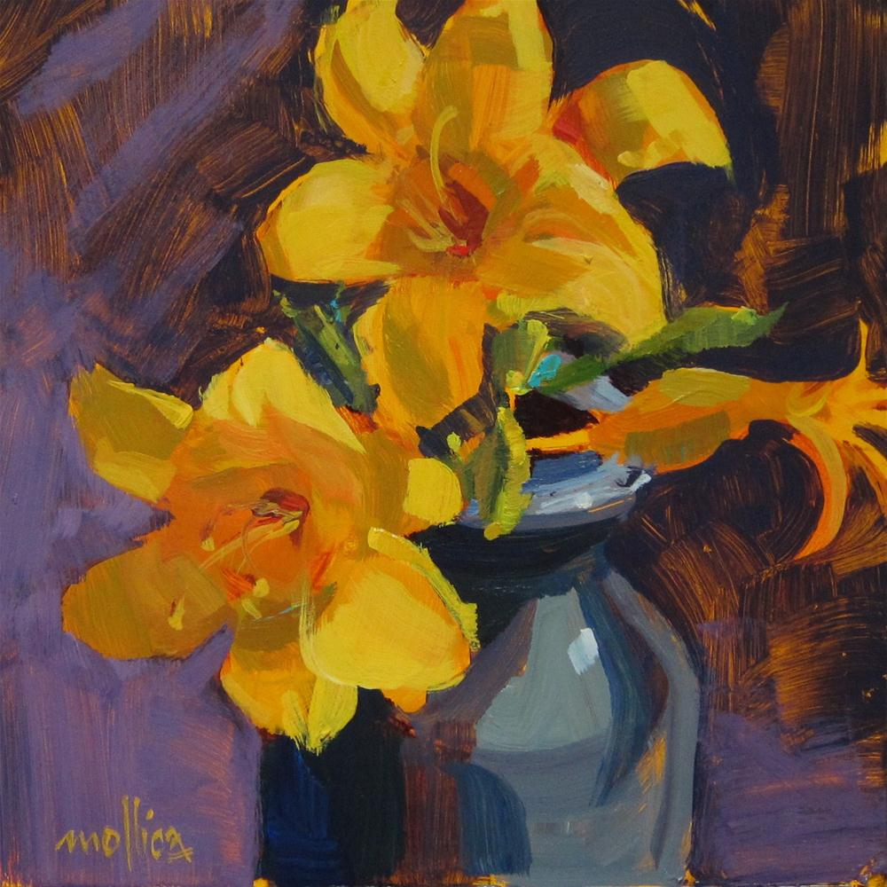 """Day Lilies"" original fine art by Patti Mollica"