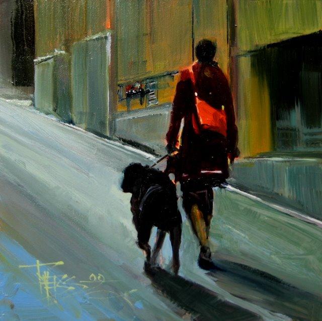 """Red Purse"" original fine art by Robin Weiss"