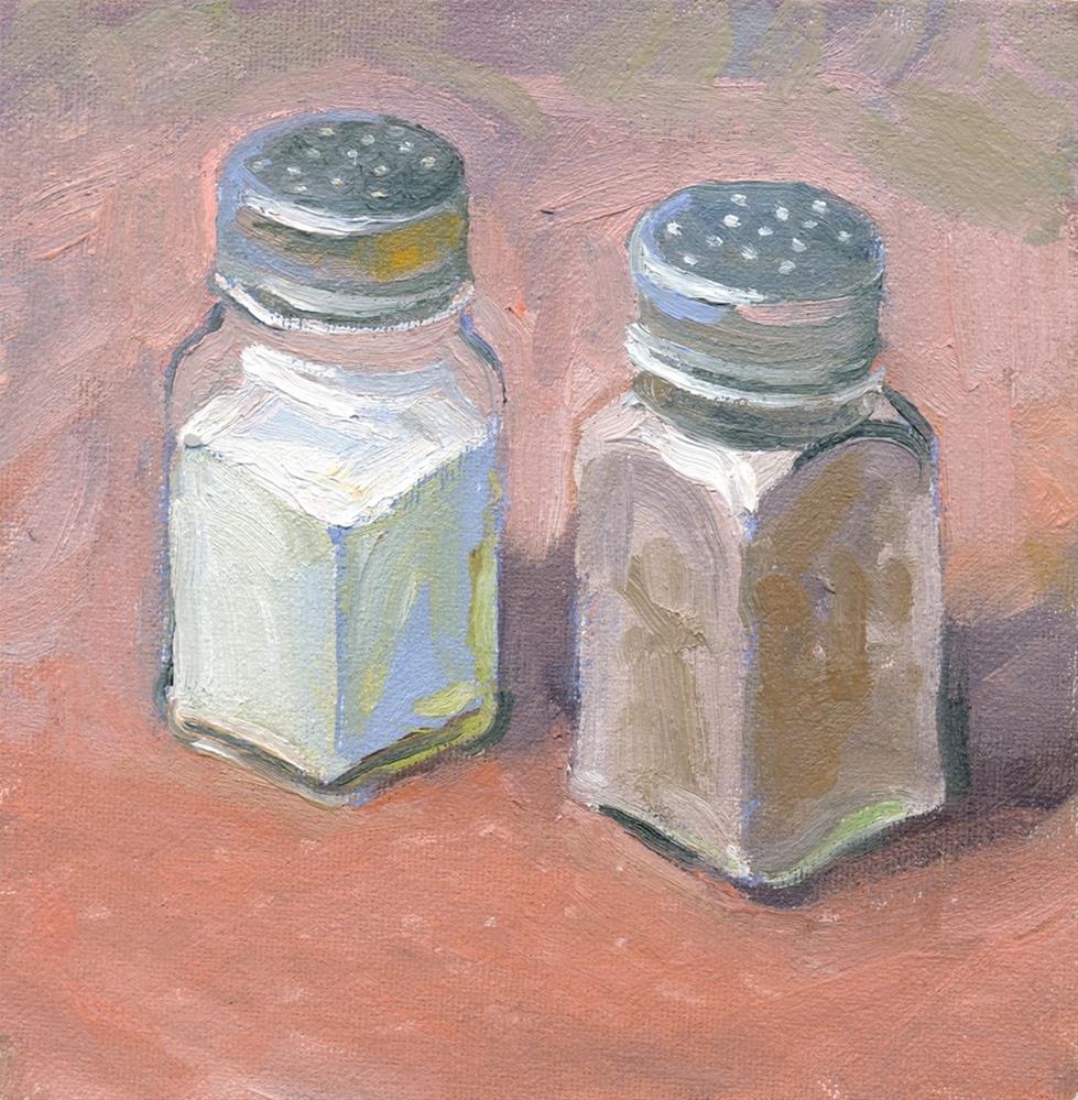 """""""Salt & Pepper"""" original fine art by Kath Reilly"""