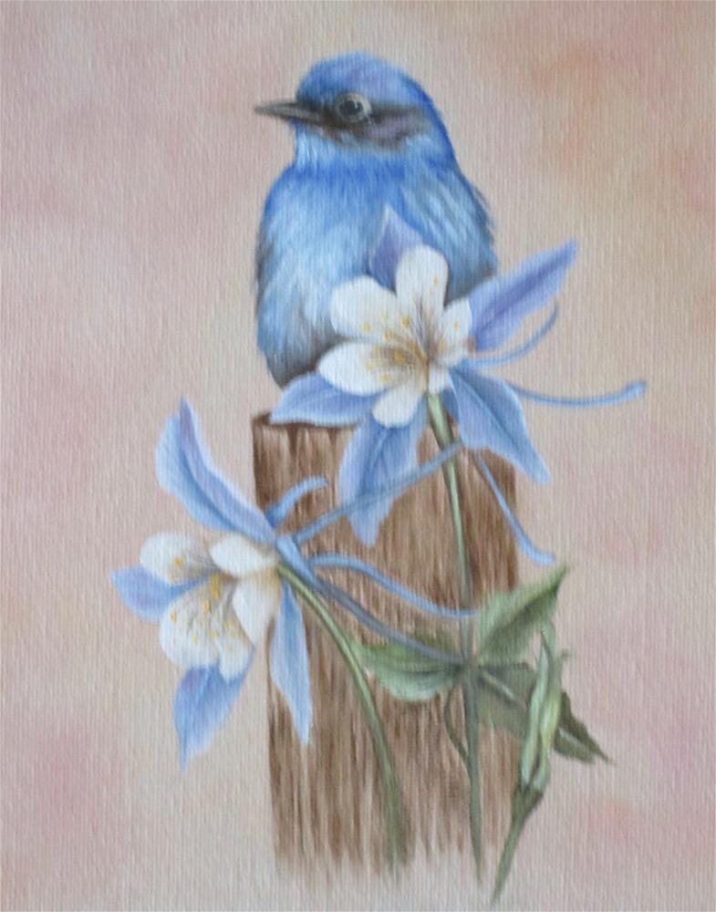 """Bluebird"" original fine art by Barbara Wagner"