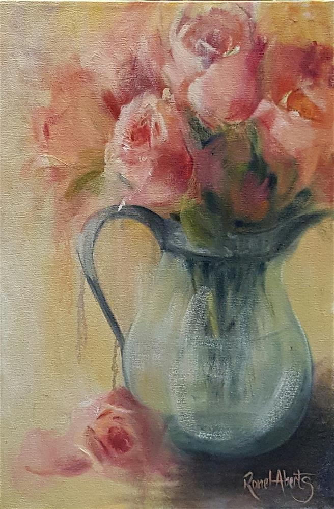 """BLUSHING BEAUTIES"" original fine art by Ronel Alberts"