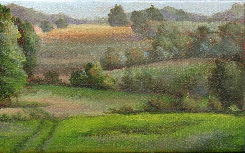 """Over the Hills"" original fine art by Debbie Shirley"