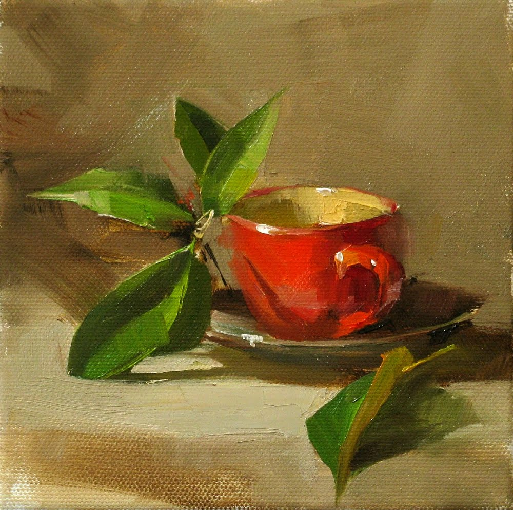 """Herbal Tea"" original fine art by Qiang Huang"