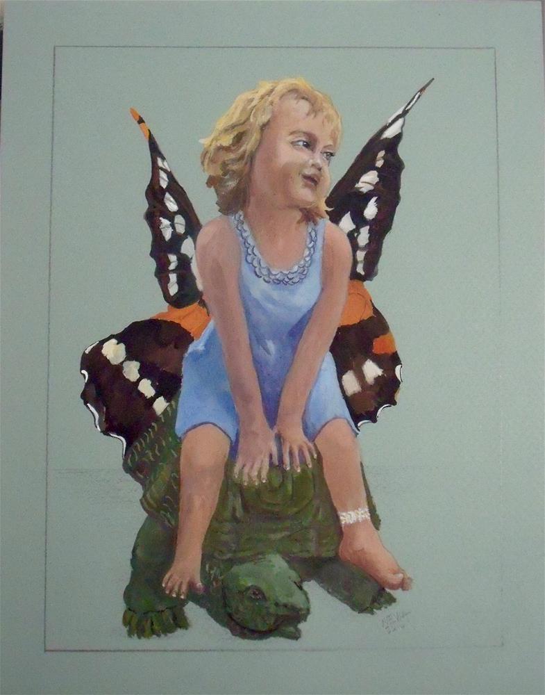 """""""Butterfly Wings"""" original fine art by Nelvia McGrath"""
