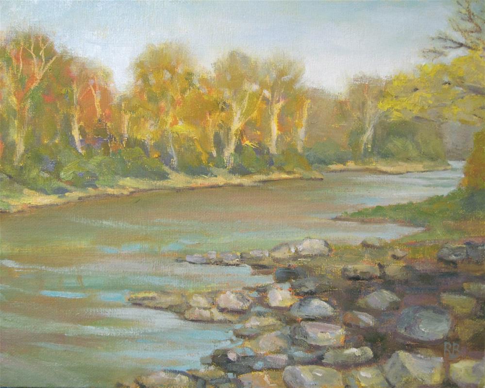 """""""Rocking the Shore"""" original fine art by Robie Benve"""