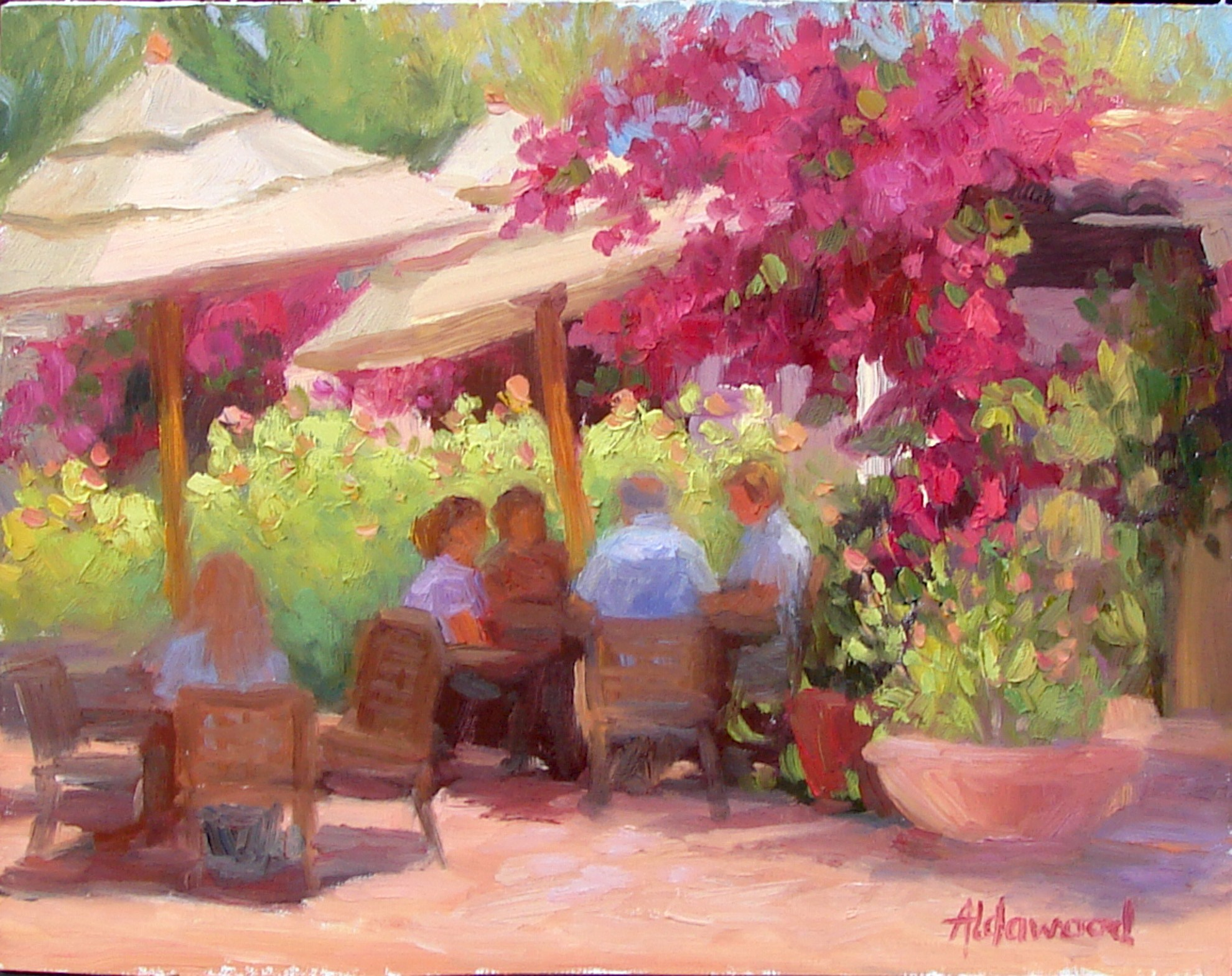 """Breakfast Alfresco"" original fine art by Sherri Aldawood"