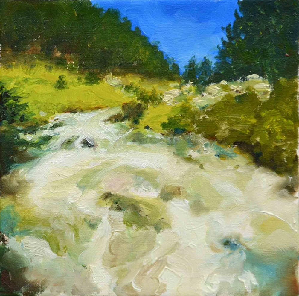 """Raging River"" original fine art by alicia tredway"
