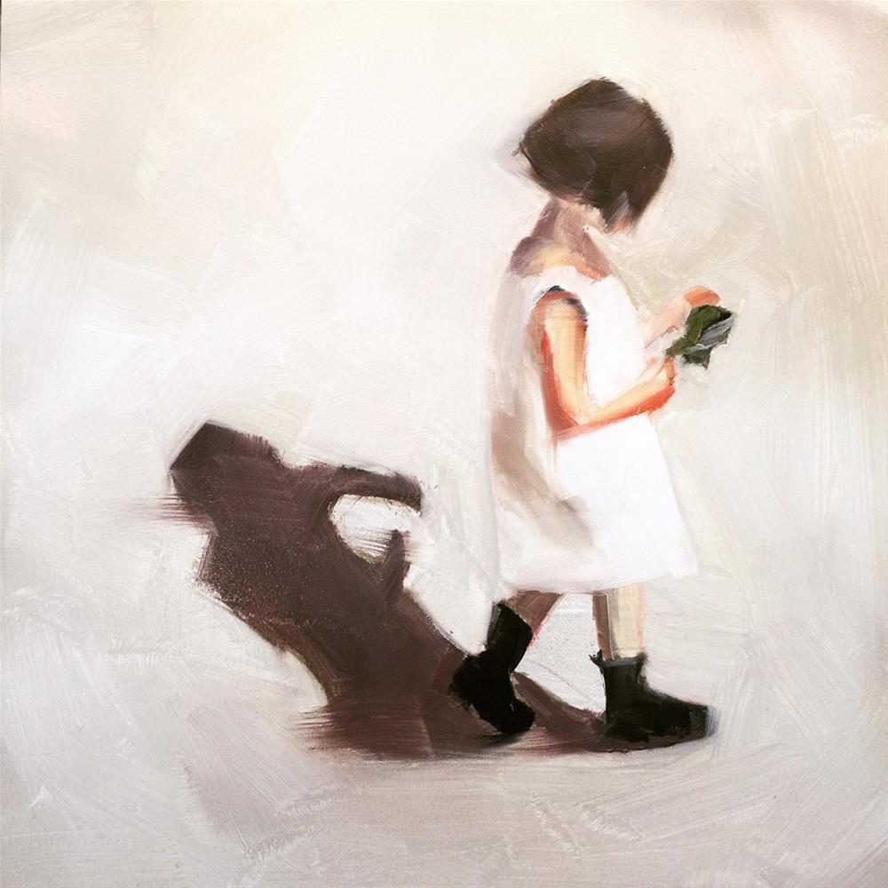 """""""449 Innocence Walking"""" original fine art by Jenny Doh"""