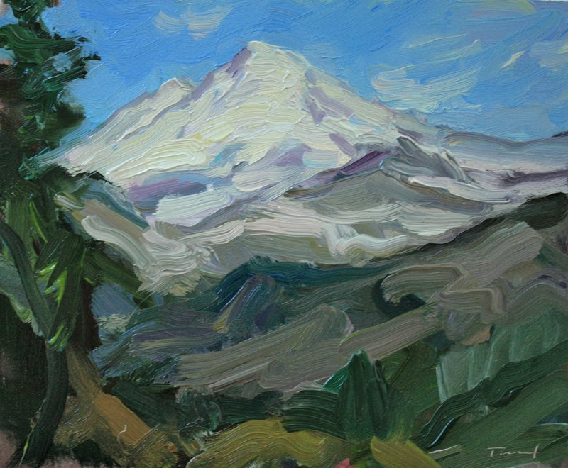 """Mt. Baker"" original fine art by Kathryn Townsend"