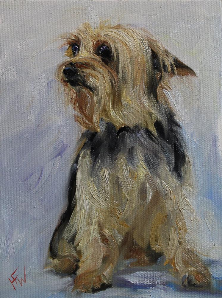 """Yorki"" original fine art by H.F. Wallen"