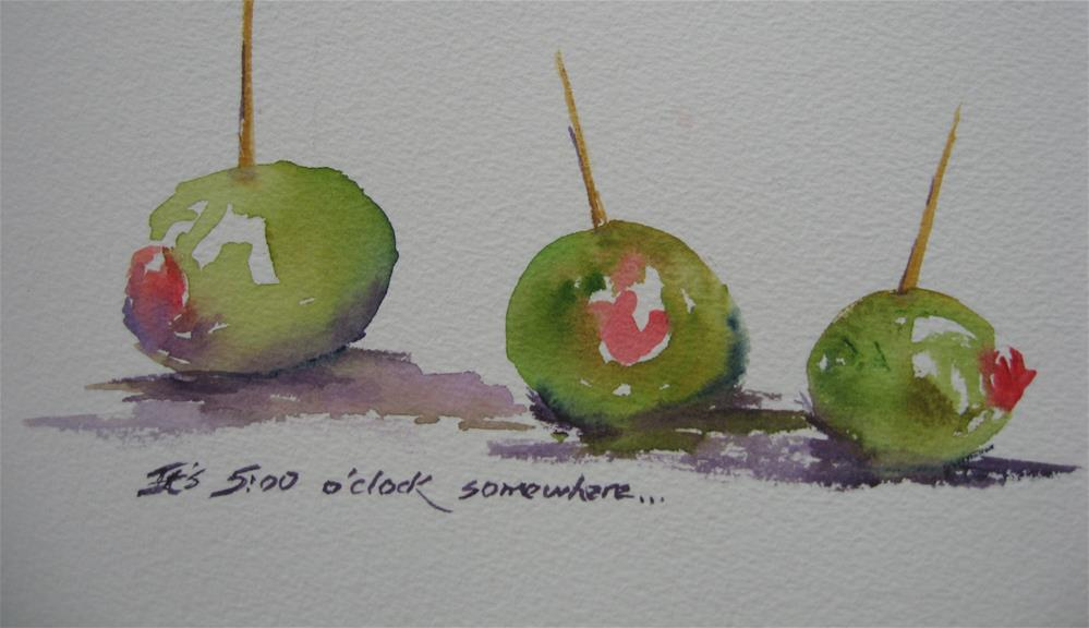 """It's five o'clock somewhere"" original fine art by Judith Freeman Clark"