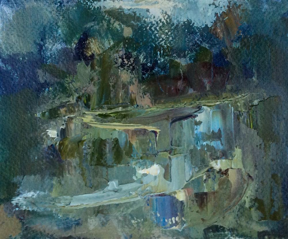 """""""Moat"""" original fine art by Anne Wood"""