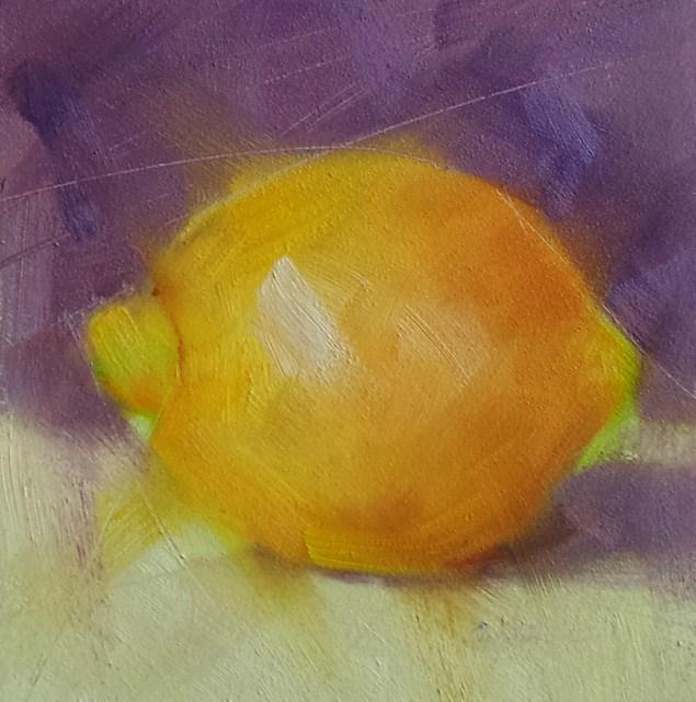 """Lemon Solo"" original fine art by Cindy Haase"
