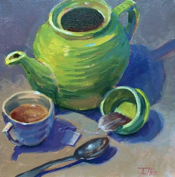"""Green Tea Party"" original fine art by John Tullis"