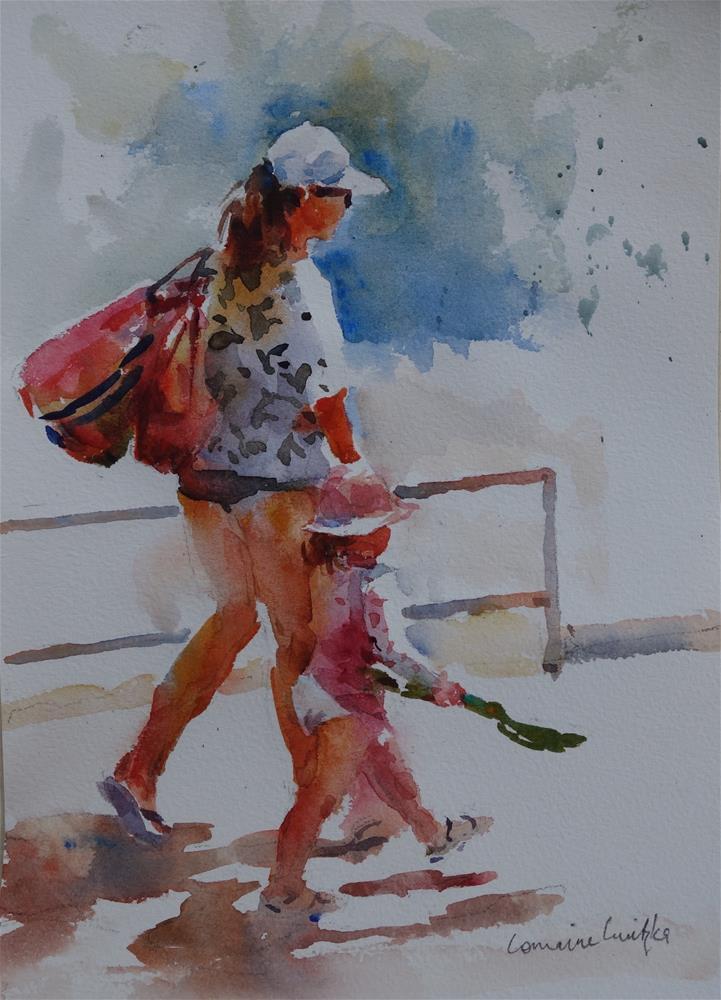 """Day at the seaside"" original fine art by Lorraine Lewitzka"