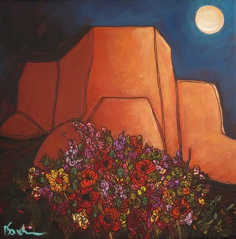 """""""140 TAOS FLOWERS"""" original fine art by Dee Sanchez"""