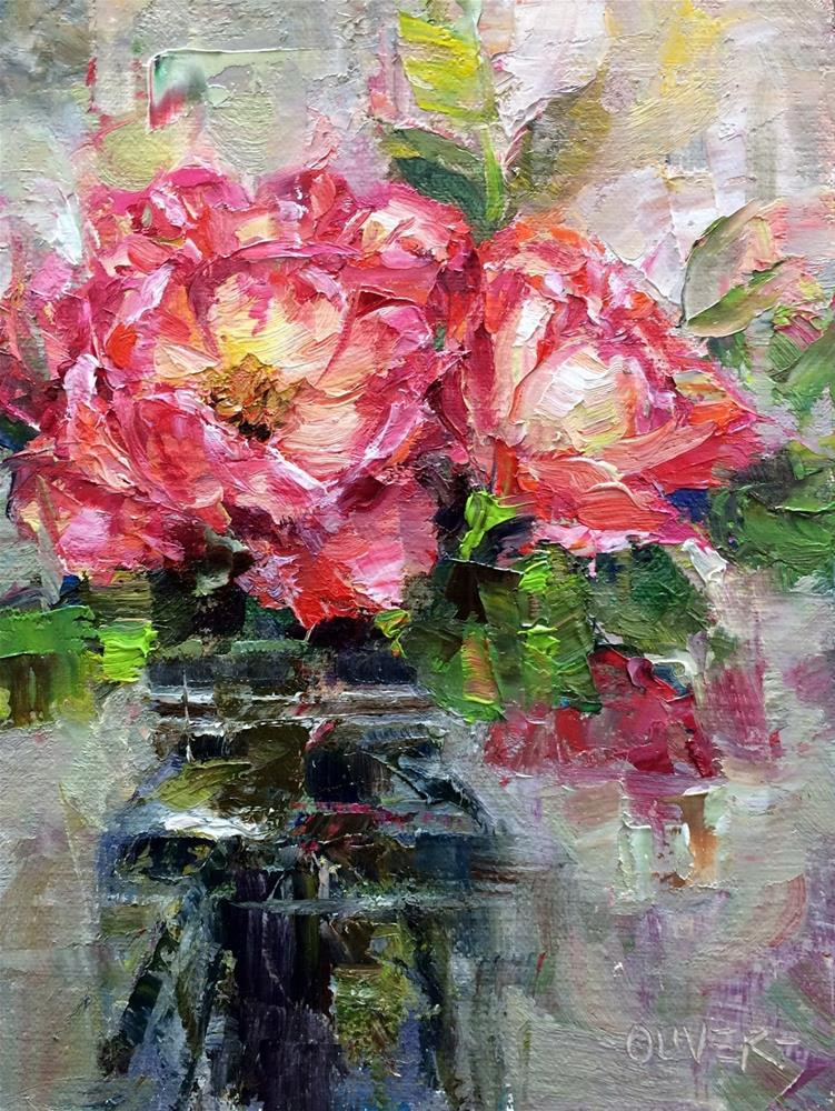 """Roses From A Friend"" original fine art by Julie Ford Oliver"